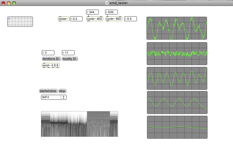 emd~: empirical mode decomposition in max/msp (2009)